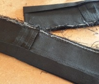 Unalterable trousers: Glued hems
